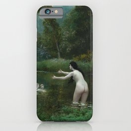 LEDA AND THE SWAN - JEAN-LEON GEROME iPhone Case