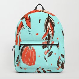 Autumn Leaves Holiday Pattern Thanksgiving Turkey Backpack