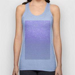 Modern purple sparkles ombre glitter lilac pastel color block Unisex Tank Top