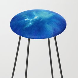 Blue Powder Counter Stool