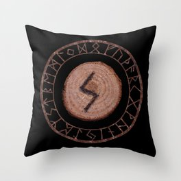 Sowilo Elder Futhark Rune Success, goals achieved, honor. The life-force, health, victory Throw Pillow