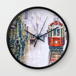 Istanbul Nostalgic Tramway Wall Clock