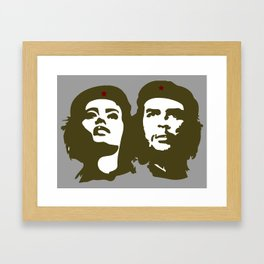 Che Guevara and the woman he loved Framed Art Print