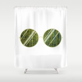 Olive Univese Glasses Shower Curtain
