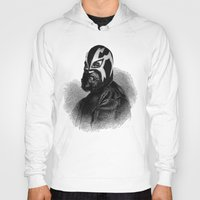 wrestling Hoodies featuring WRESTLING MASK 9 by DIVIDUS