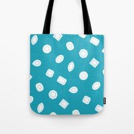 Blue Moissy Gem Pattern Tote Bag