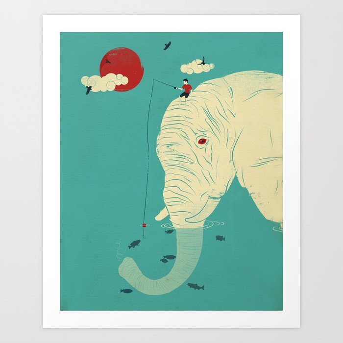 Fishin' Buddy Art Print