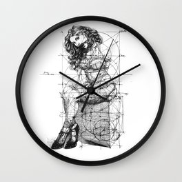 Brave Lady. ©Yury Fadeev Wall Clock