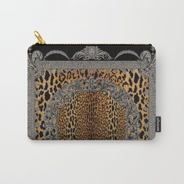 Baroque Leopard Scarf Carry-All Pouch