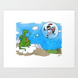 dragon caballero Art Print