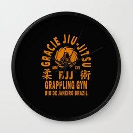 Gracie Jiu Jitsu Wall Clock