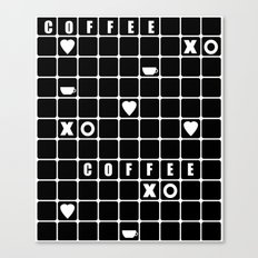 Black cubes . Love Coffee . Beautiful black cage . Canvas Print