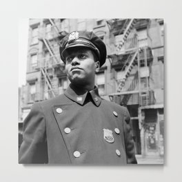 New York Policeman - Gordon Parks Photograph - Vintage Photo Metal Print