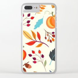 Fall Festival Clear iPhone Case