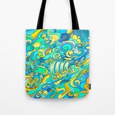 Cosmic Waterfall Tote Bag