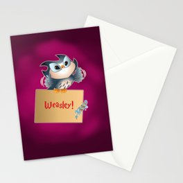 Pigwidgeon a replacement owl Stationery Cards