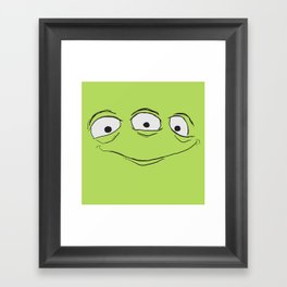 Alien Face Framed Art Print
