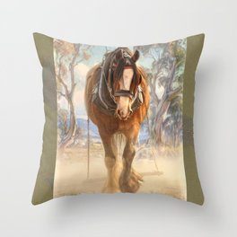 The Clydesdale Throw Pillow