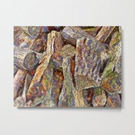 Firewood PhotoArt Metal Print