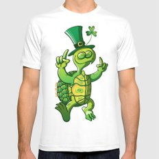 Saint Patrick's Day Green Turtle Mens Fitted Tee MEDIUM White