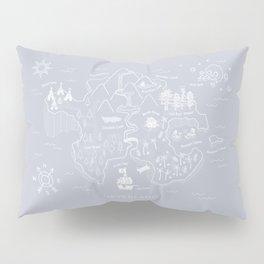 Neverland Map - Gray Pillow Sham