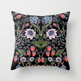 Strawberry Tapestry Throw Pillow