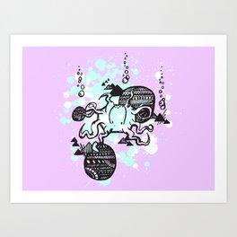Let's get Kraken Art Print