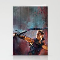 clint barton Stationery Cards featuring Clint Barton by Wisesnail