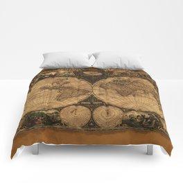 Nova Totius Terrarum Vintage Map Comforters