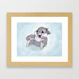 Disney's Thumper on Ice Framed Art Print