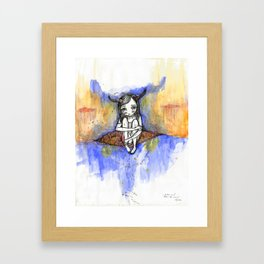 balance / after the storm Framed Art Print
