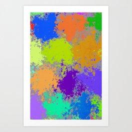 Paint Dots Art Print