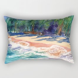 Kauai North Shore Beach 2 Rectangular Pillow