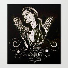 Black (Wings/Angel) Canvas Print