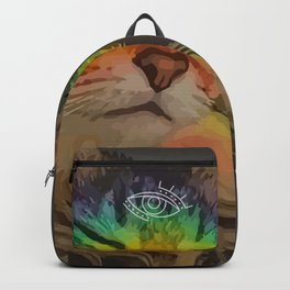 The Mystical Cat - Third Eye and Rainbow glowing Backpack