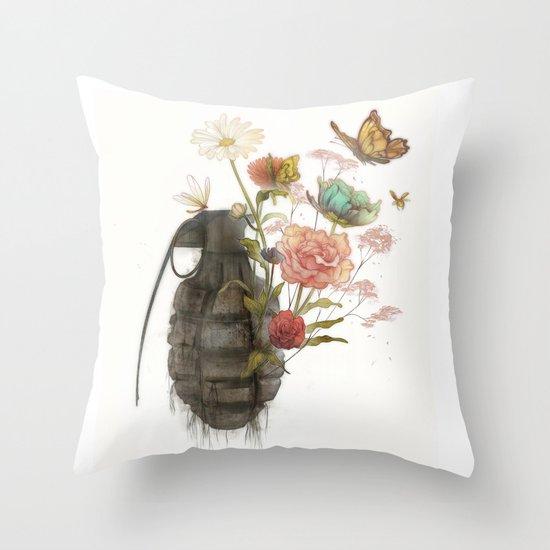 Containability to Sustainability  Throw Pillow