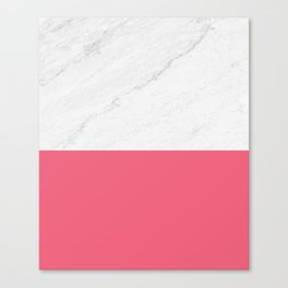 Marble And Pink Canvas Print