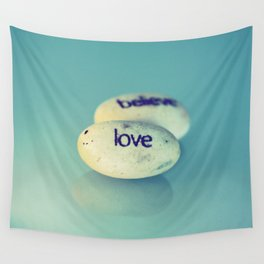 Love is Written in Stone Wall Tapestry