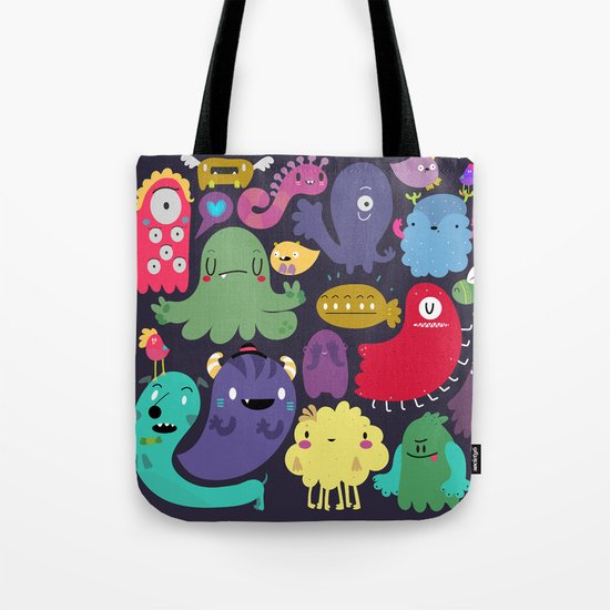 Colorful creatures Tote Bag
