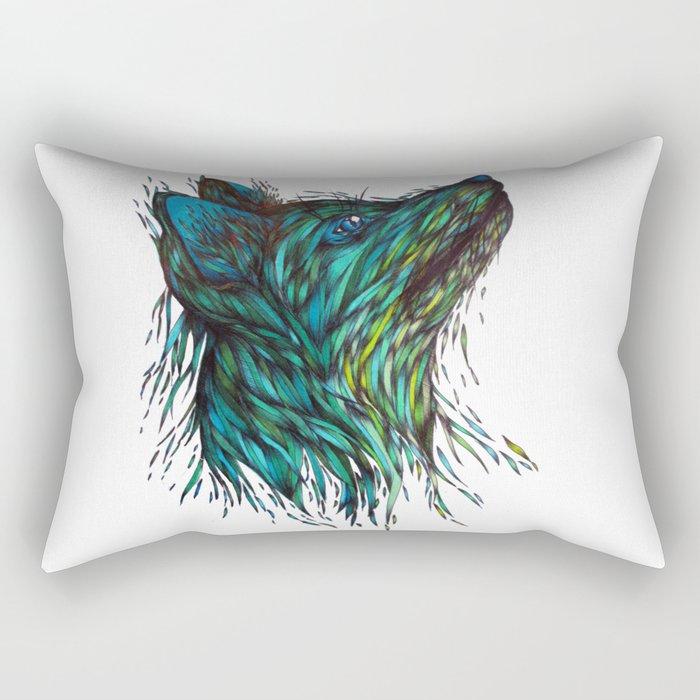 Sea Fox Rectangular Pillow