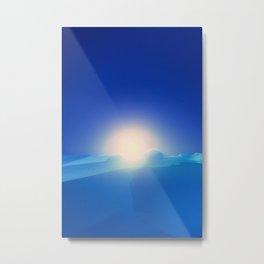 Ice Cold Blue Metal Print