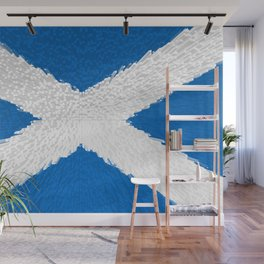 Extruded flag of Scotland Wall Mural