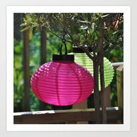 lanterns Art Prints featuring Lanterns by MemoryLapsePhotography
