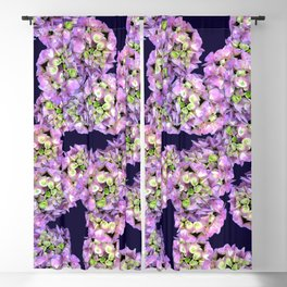Hydrangea Rich Purple Blackout Curtain