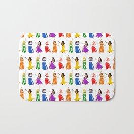 Belly Dancers - Rainbow Colors Bath Mat