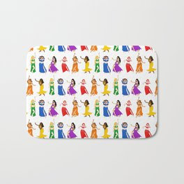 Belly Dancers - Rainbow Colors Bath Mat