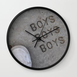 Boys Boys Boys Wall Clock