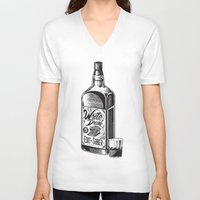 hemingway V-neck T-shirts featuring Write Drunk. Edit Sober by Ryan Huddle House of H