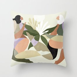 How to grow plants Throw Pillow