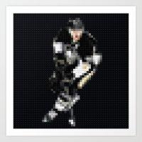 Penguins - hockey - Legobricks Art Print
